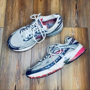 Brooks woman's grey/pink running shoes